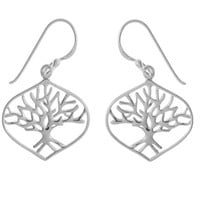 Tree Leaf Dangles - Sterling Silver by Boma