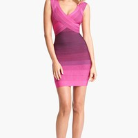 Herve Leger Ombre Bandage Dress
