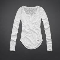 Aliso Creek Lace Back Henley