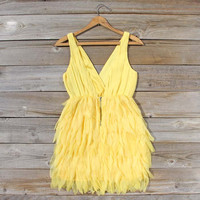 Drizzling Mist Dress in Lemon