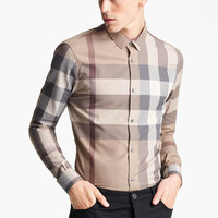 Burberry London Trim Fit Check Shirt | Nordstrom