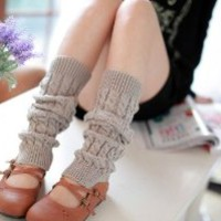 Super Warm & Soft Winter Knit Sweater Leg Warmers ¨C Grey Color