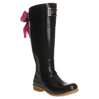 Joules Evedon Welly Black Rubber - Knee Boots
