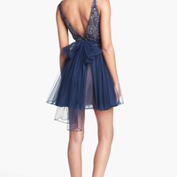 Sherri Hill Embellished Tulle Fit & Flare Dress | Nordstrom