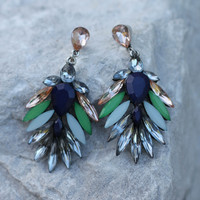 Birds Of A Feather Earring - Blue