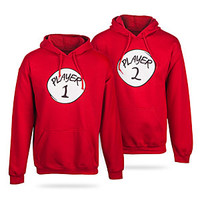 Player 1 and Player 2 Hoodies