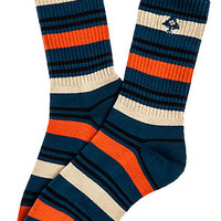 The Catamaran Crew Socks in Nautical Blue
