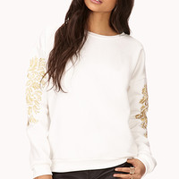 Relaxed Embroidered Sweatshirt