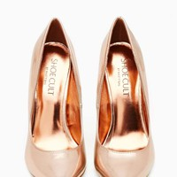 Shoe Cult Luxe Pump - Rose Gold