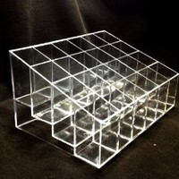 Clear Acrylic Trapezoid 24 Lattices Lipsticks Cosmetic Organizer/display/holder