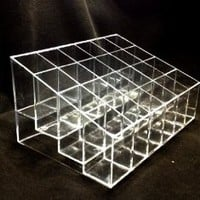 Clear Acrylic Trapezoid 24 Lattices Lipsticks Cosmetic Organizer/display/holder (Style C)