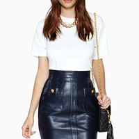 Vintage Chanel Maxime Leather Skirt