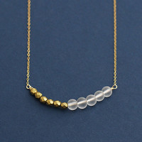 Alexa - minimal beadwork necklace - delicate gold necklace - everyday jewellery - gift for her