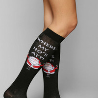 Funny Santa Knee-High Sock - Urban Outfitters