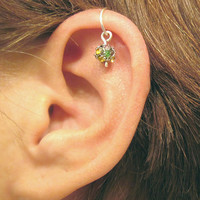 "Ear Cuff Helix Cartilage ""Disco Ball"" No Piercing Handmade"