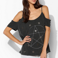 Truly Madly Deeply Spliced Shoulder Tee - Urban Outfitters