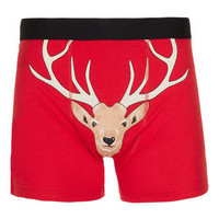 Red Stag Face Jersey Underwear - Men's Underwear  - Clothing