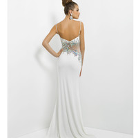 (PRE-ORDER) Blush 2014 Prom Dresses - White Sexy Jewled Long Prom Dress