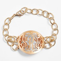 Moon and Lola 'Annabel' Medium Oval Personalized Monogram Bracelet (Nordstrom Exclusive) | Nordstrom