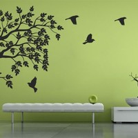 Birds and Branch Sticker - Moon Wall Stickers