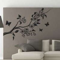 Butterfly Branch Sticker - Moon Wall Stickers