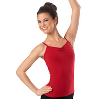 Basic Cotton Pinch-Front Camisole Top; Balera