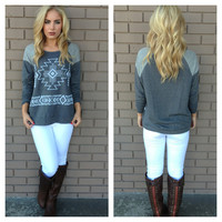 Grey Join the Tribe Tunic Top
