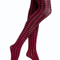 HUE Printed Houndstooth tights