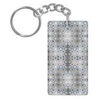 Pattern to Invoke the Qualities of Silver Rectangle Acrylic Keychain
