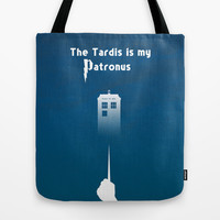 The Tardis is my Patronus Tote Bag by Purshue