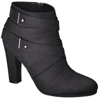Women's Sam & Libby Sadie Heeled Ankle Boot with Straps - Black