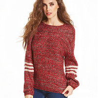 Jessica Simpson Sweater, Long Sleeve Todi Marled-Knit