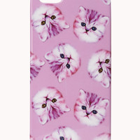 FOREVER 21 Cat Parade Phone Case Pink/White One