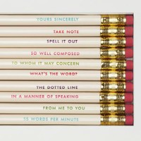 idiom pencils - kate spade new york