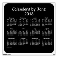2018 Wall Calendar Decal - medium 30 x 30 Wall Skins