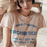 Wildfox Couture Made It Through Prohibition Desert Crewneck in Baby