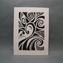 Abstract Design  Linocut Print by kellismprints on Etsy