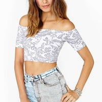 Motel Paisley Crop Top
