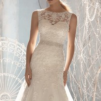 Beaded Sleeveless Gown by Bridal by Mori Lee