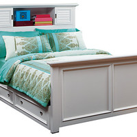 Belmar White 3 Pc Full Bookcase Bed