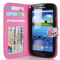 Hanicase Samsung i9300 Galaxy S3 Colorful Design Premium PU Leather Wallet Case With Card Holder for Samsung i9300 Galaxy S3