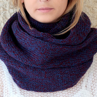 by (Etsy.KnitScarf) Comfy Knit Scarf with button, infinity scarf, circle scarf, loop scarf , knit infinity scarf , button scarf, open weave knit scarf