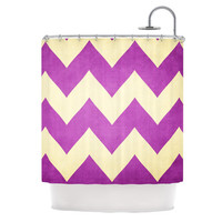"Catherine McDonald ""Juicy"" Chevron Shower Curtain 