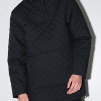 sir new york quilted pullover jacket black Oak