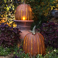 Galvanized Steel Great Pumpkin Lantern - Plow & Hearth
