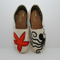 Starfish & Octopus Custom TOMS by KellismCo on Etsy