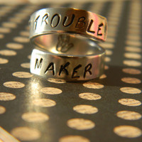 trouble maker aluminum ring