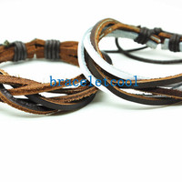 set of 2 bracelet, couple bracelet women Leather Bracelet Men leather bracelet, friendship bracelet,Christmas Gift C041