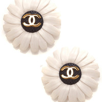 Carole Tanenbaum Chanel Floral Earrings by Carole Tanenbaum for Preorder on Moda Operandi