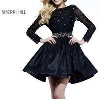 Sherri Hill 21215 Little Black Short Cocktail Dress